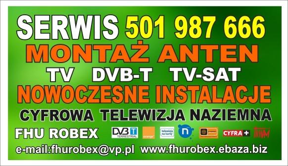 Profesjonalny Serwis Anten Tv Sat Dvb-t