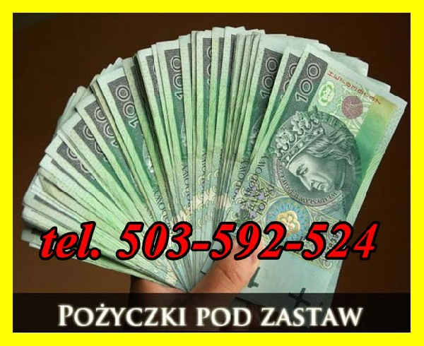 Najlepsza oferta na rynku POŻYCZKI POZABANKOWE pod zastaw!!  Nie interesuje nas BIK, BIG, KRD, ZUS ani US. Nie pobieramy opłat wstępnych.  Nie weryfikujemy dochodów. Każdy wniosek rozpatrujemy indywidualnie.  Pożyczki pod zastaw nieruchomości  Zastawem mo