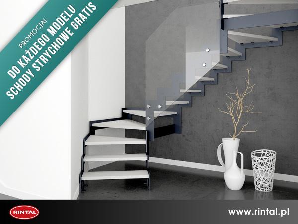 Rintal Polska, wiodący producent SCHODÓW do wnętrz organizuje PROMOCJĘ: Do wszystkich modeli schodów Rintal zakupionych w listopadzie wraz z poręczami i montażem schody strychowe gratis! Warunkiem skorzystania z promocji jest wpłata 30% zaliczki do dnia 1